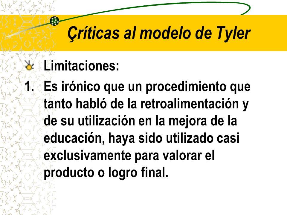 Çríticas al modelo de Tyler