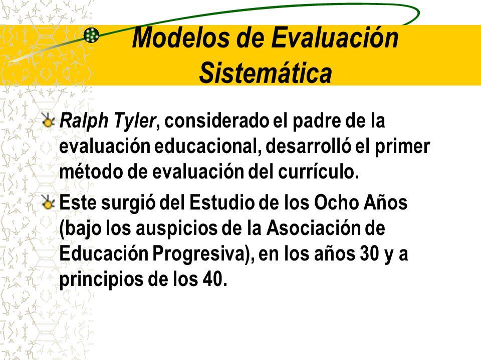 Modelos de Evaluación Sistemática