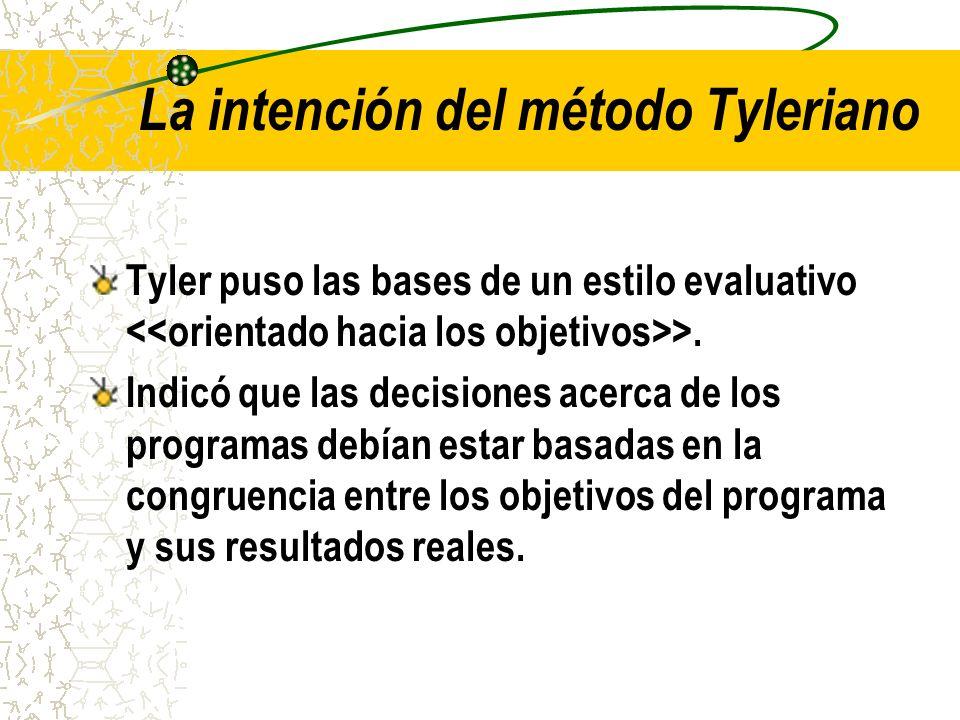 La intención del método Tyleriano