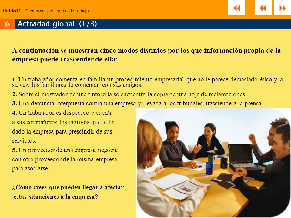 »    Actividad global (1/3)