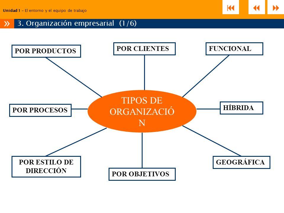 3. Organización empresarial (1/6)