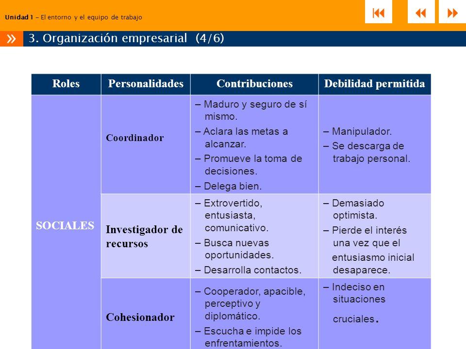 3. Organización empresarial (4/6)