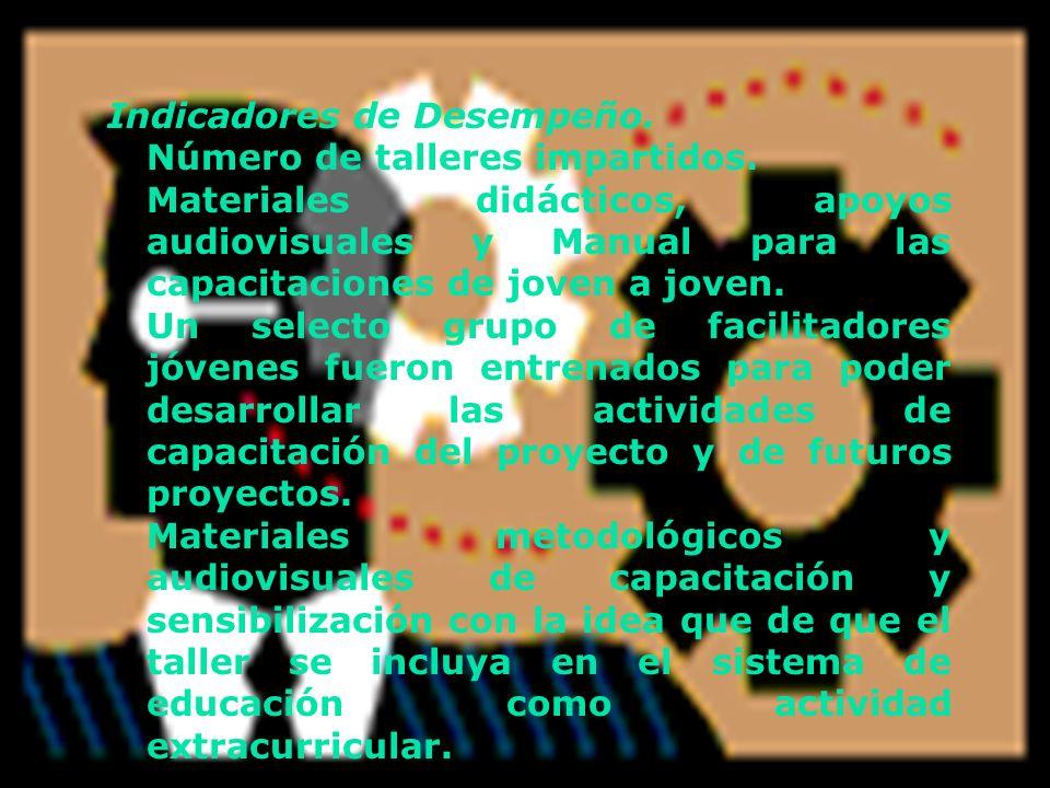 Indicadores de Desempeño.