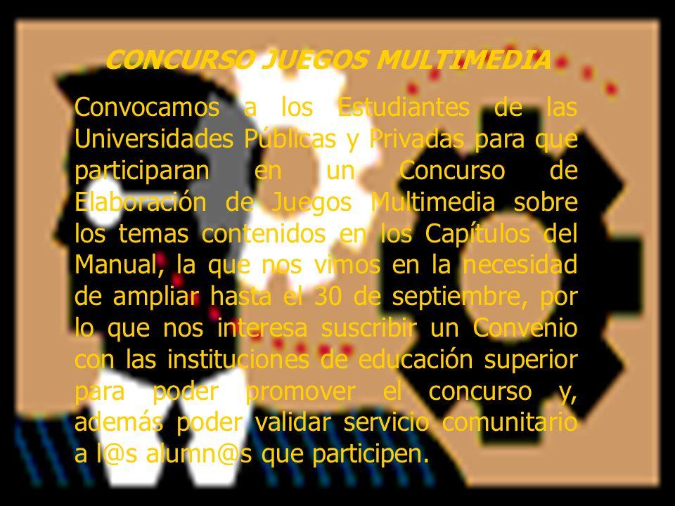 CONCURSO JUEGOS MULTIMEDIA