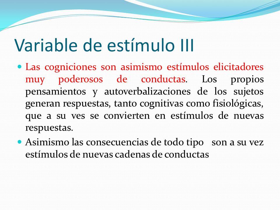 Variable de estímulo III