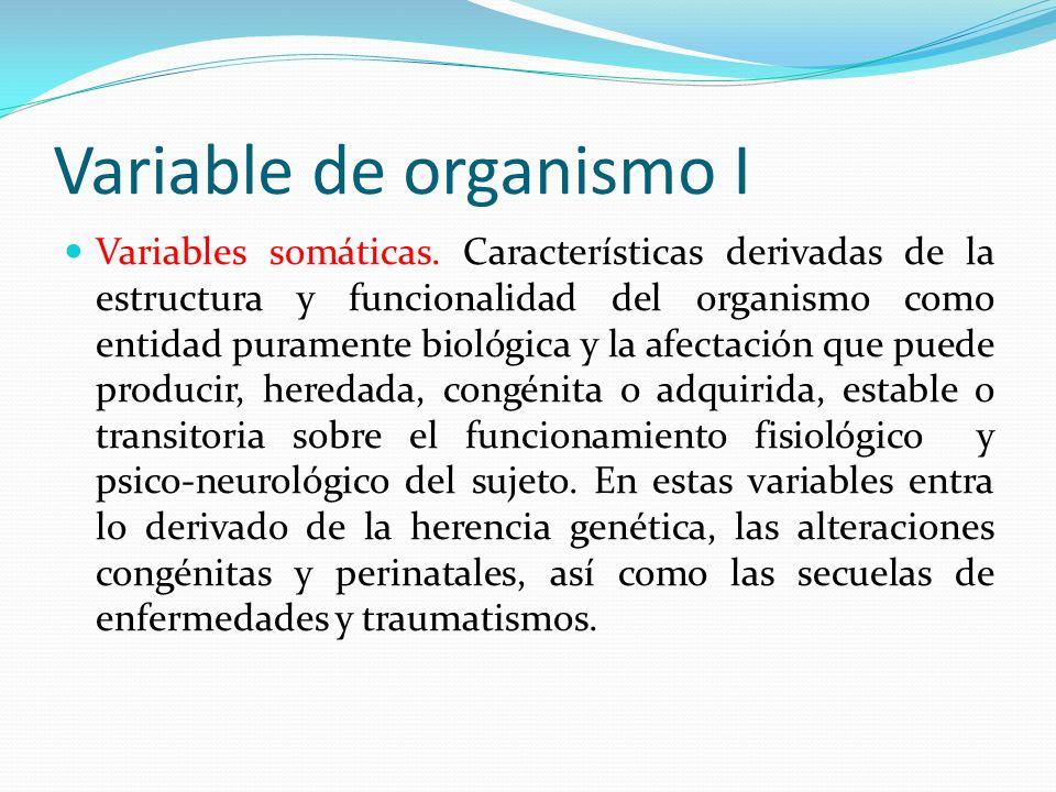 Variable de organismo I