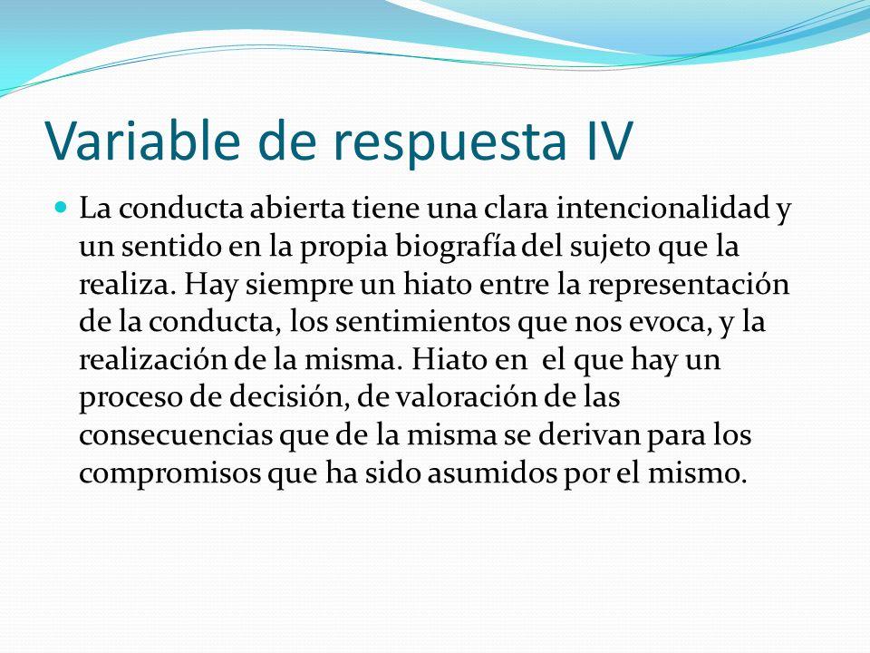 Variable de respuesta IV