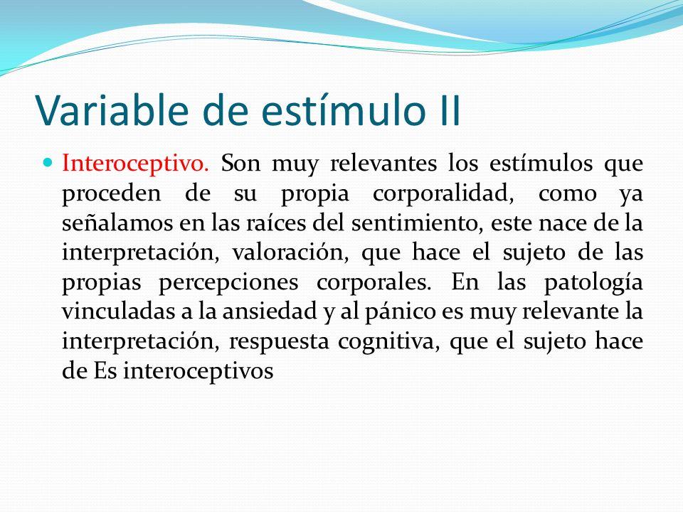 Variable de estímulo II