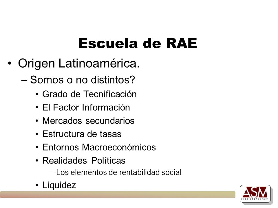 Escuela de RAE Origen Latinoamérica. Somos o no distintos