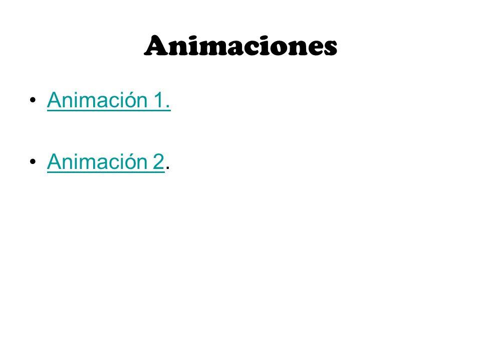 Animaciones Animación 1. Animación 2.