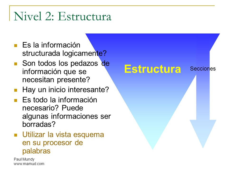 Nivel 2: Estructura Estructura