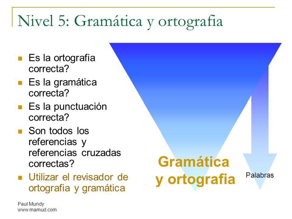 Nivel 5: Gramática y ortografia