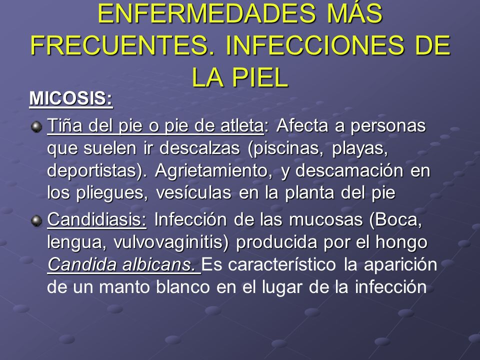 Patolog as frecuentes de la piel ppt video online descargar for Piscina y candidiasis