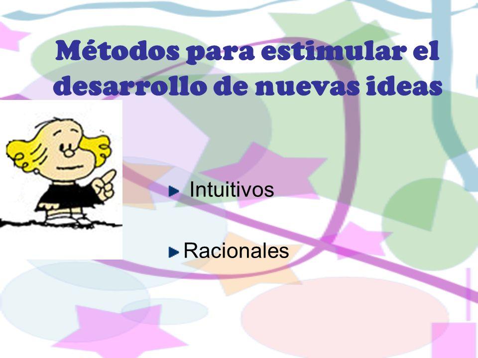 Métodos para estimular el desarrollo de nuevas ideas