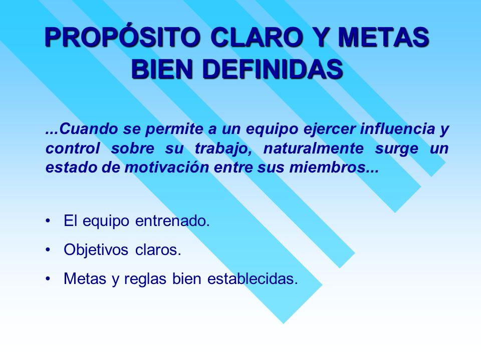 PROPÓSITO CLARO Y METAS BIEN DEFINIDAS