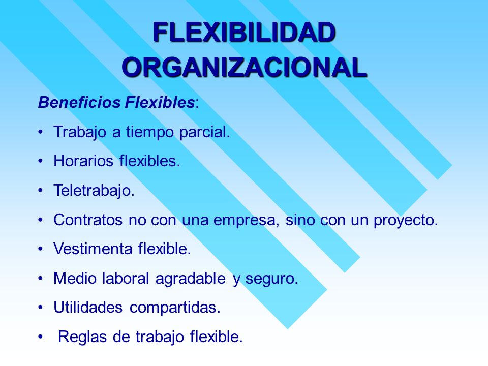 FLEXIBILIDAD ORGANIZACIONAL