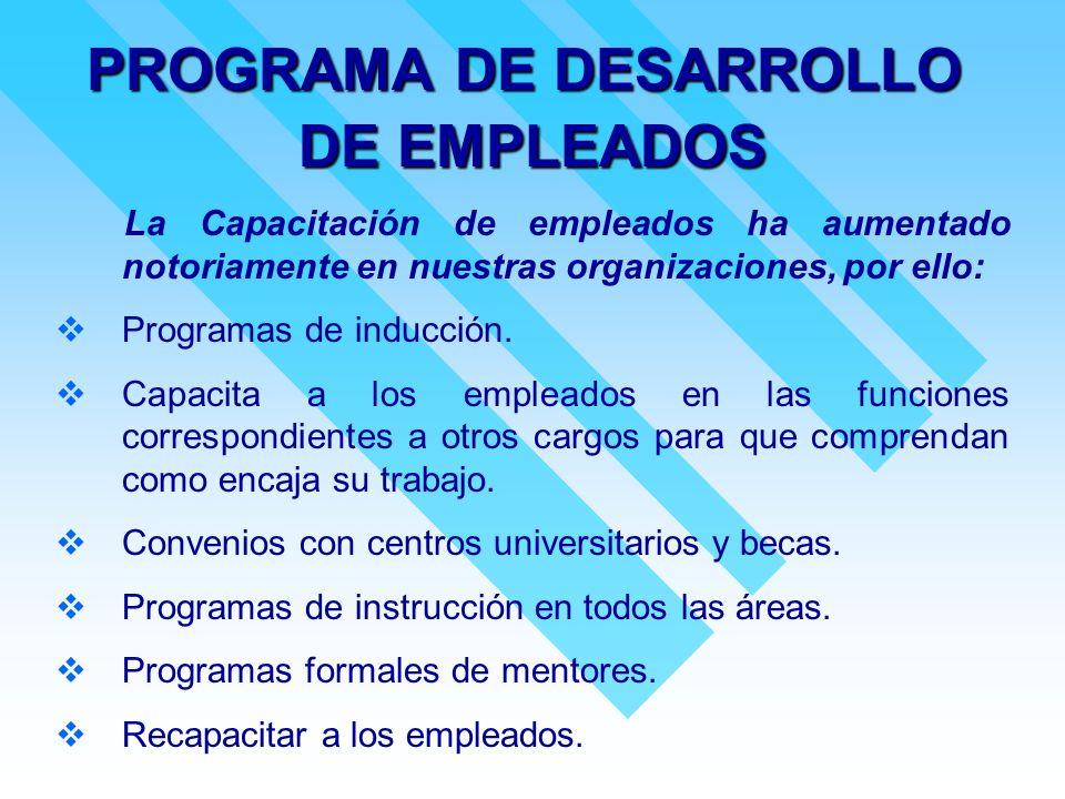 PROGRAMA DE DESARROLLO DE EMPLEADOS
