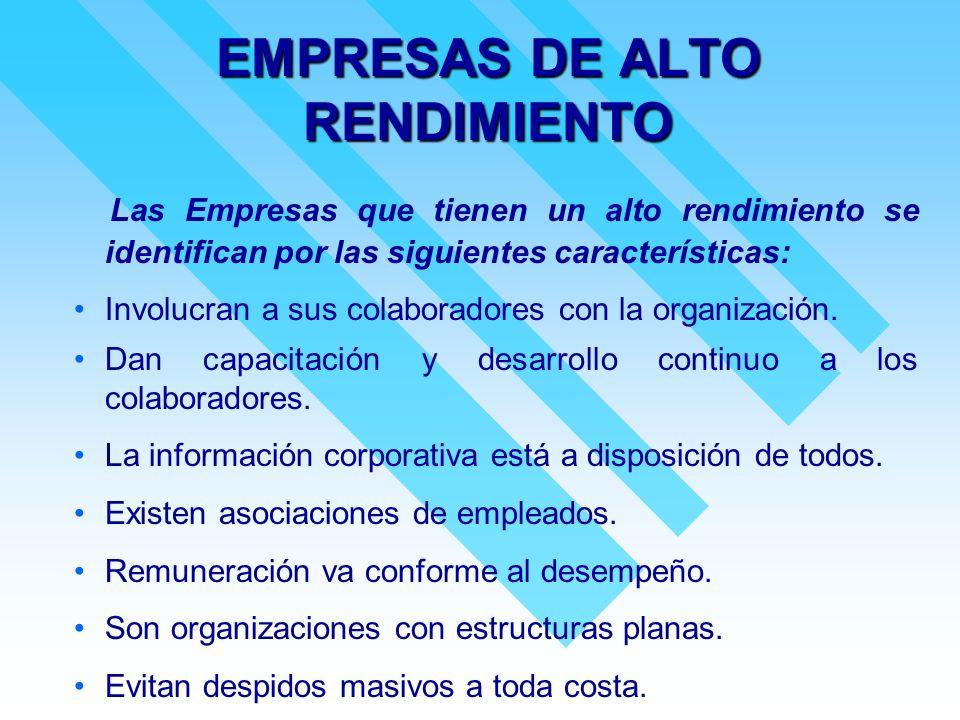 EMPRESAS DE ALTO RENDIMIENTO