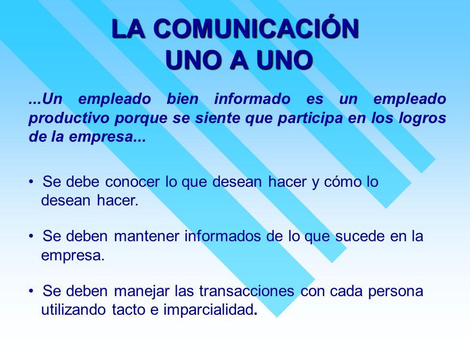 LA COMUNICACIÓN UNO A UNO