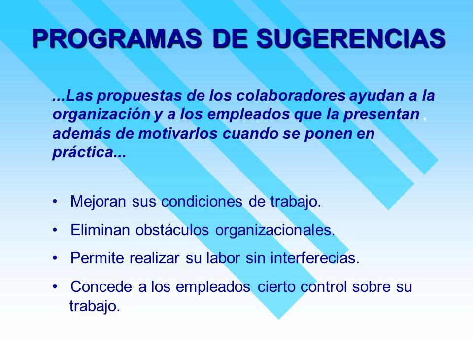 PROGRAMAS DE SUGERENCIAS