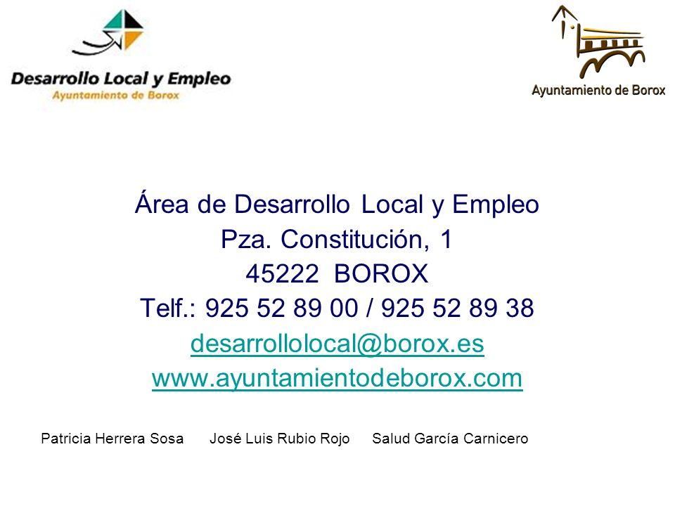 Área de Desarrollo Local y Empleo