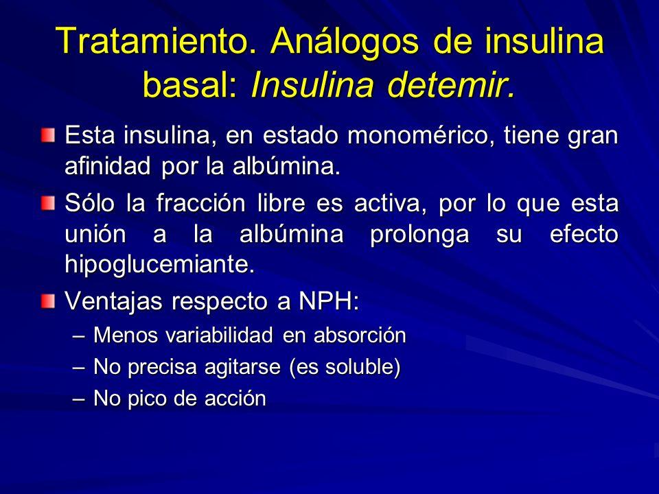 Tratamiento. Análogos de insulina basal: Insulina detemir.