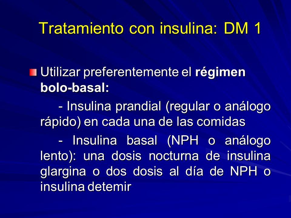 Tratamiento con insulina: DM 1