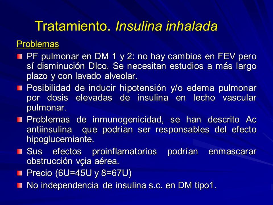 Tratamiento. Insulina inhalada