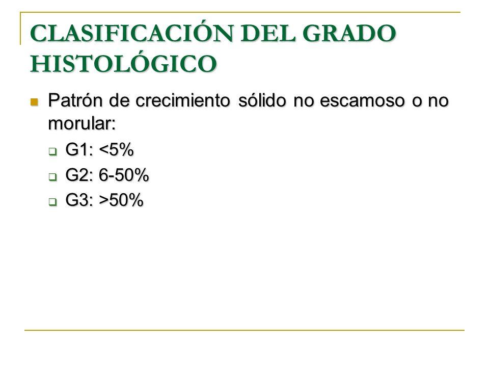 CLASIFICACIÓN DEL GRADO HISTOLÓGICO