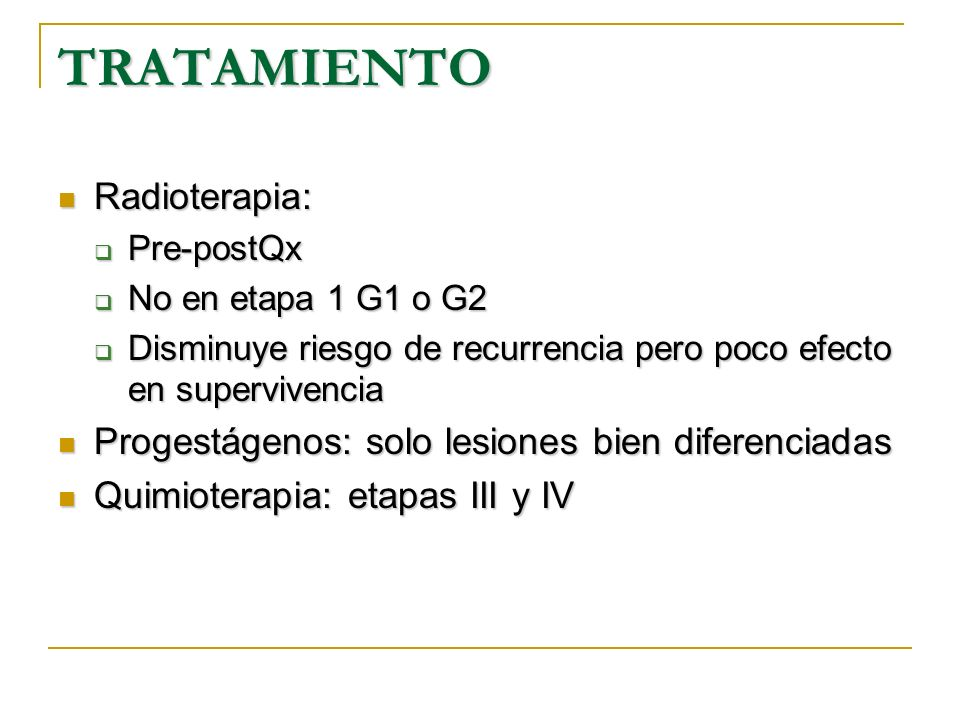 TRATAMIENTO Radioterapia: