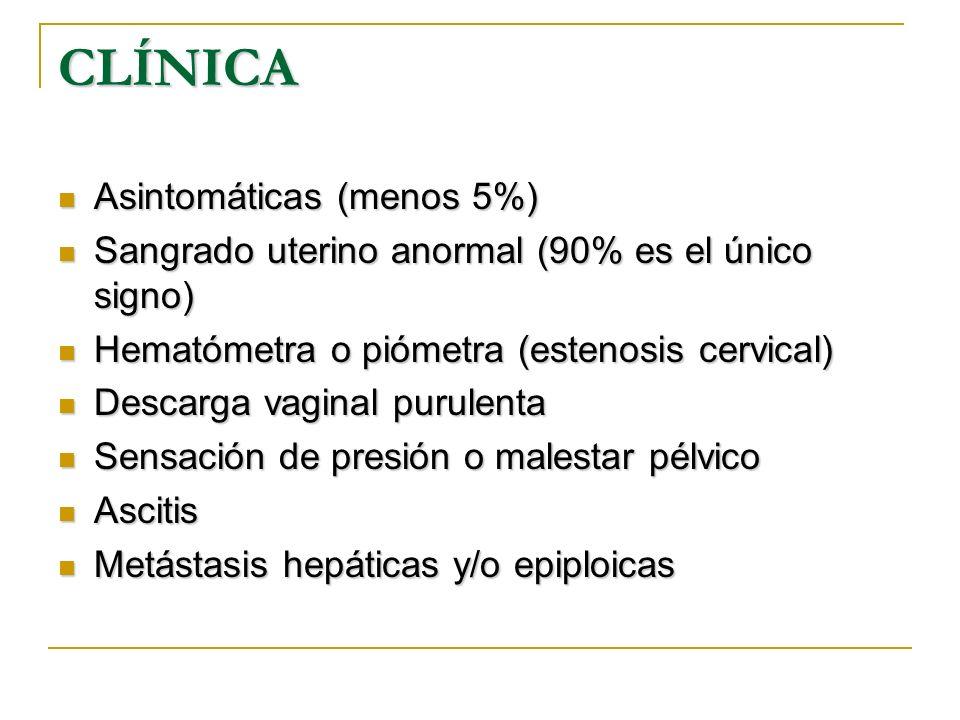 CLÍNICA Asintomáticas (menos 5%)