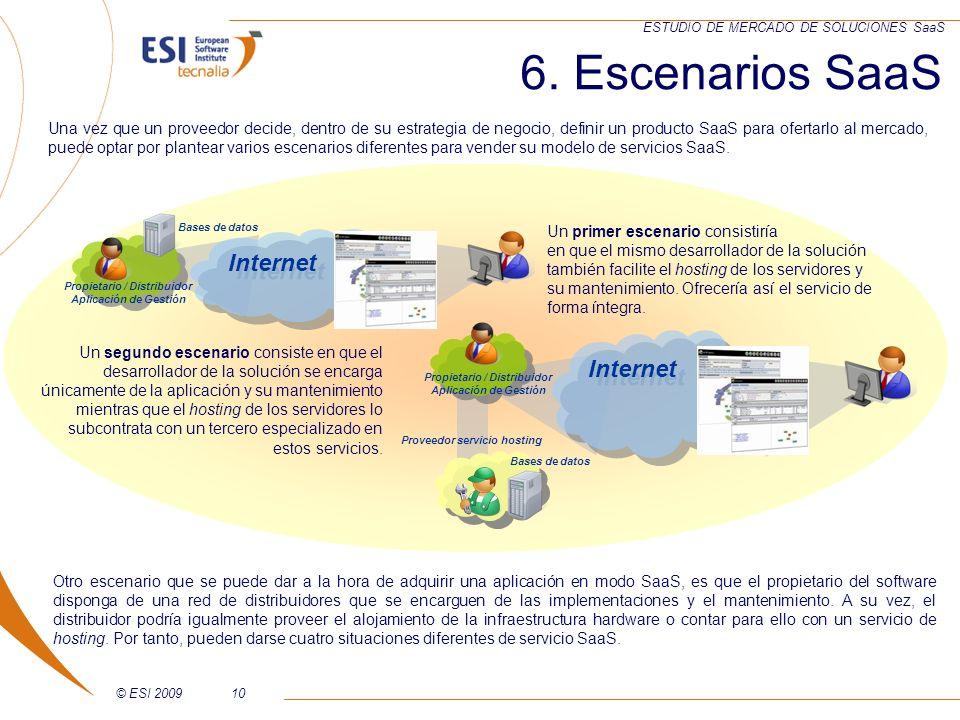6. Escenarios SaaS Internet Internet