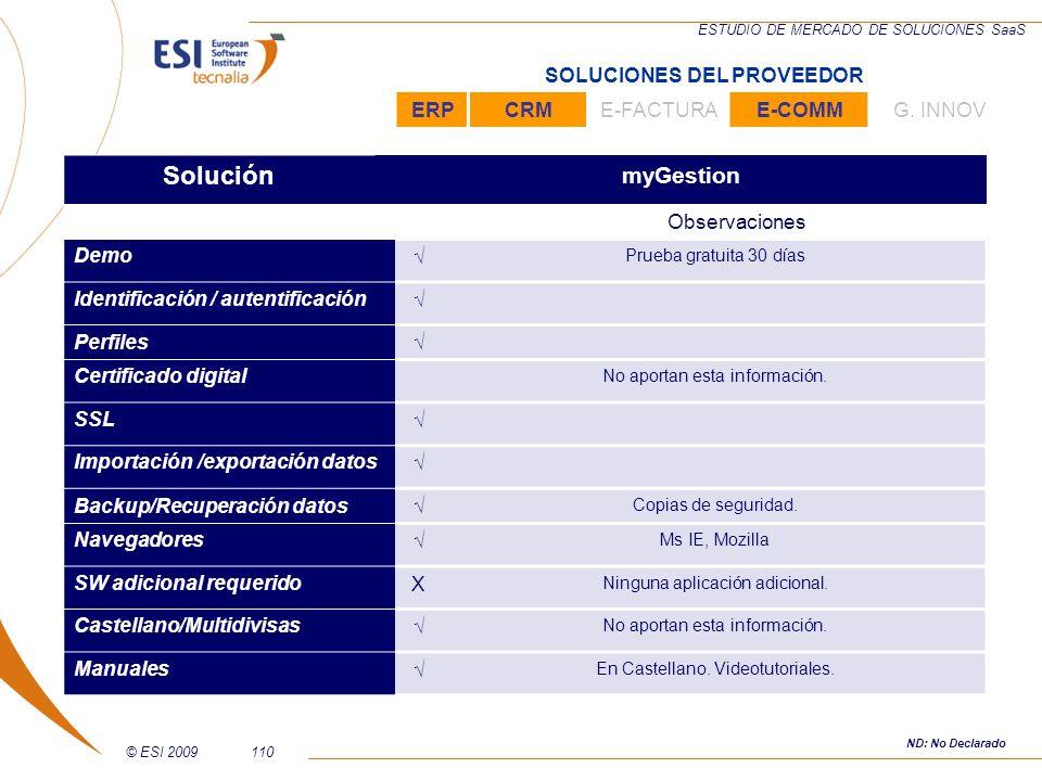 Solución myGestion SOLUCIONES DEL PROVEEDOR ERP CRM E-FACTURA E-COMM