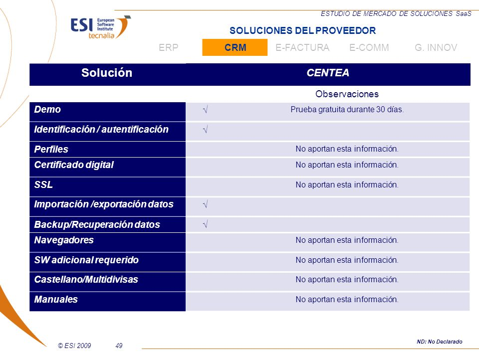 Solución CENTEA SOLUCIONES DEL PROVEEDOR ERP CRM E-FACTURA E-COMM