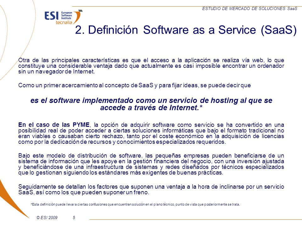 2. Definición Software as a Service (SaaS)
