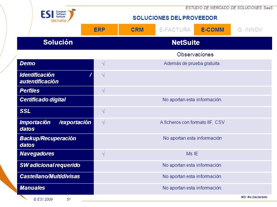 Solución NetSuite SOLUCIONES DEL PROVEEDOR ERP CRM E-FACTURA E-COMM