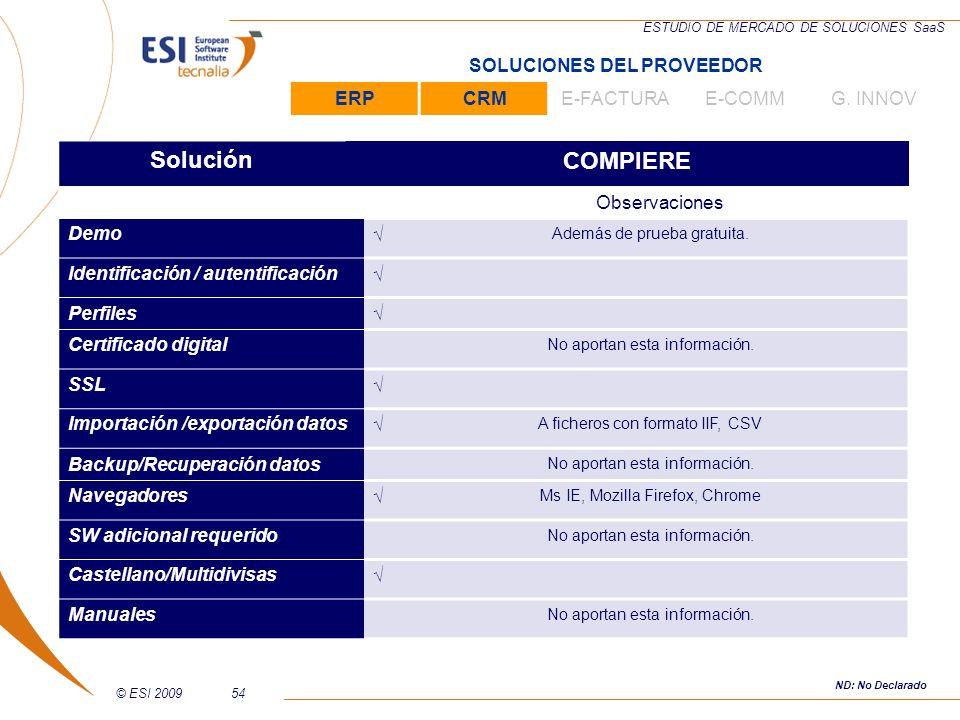 Solución COMPIERE SOLUCIONES DEL PROVEEDOR ERP CRM E-FACTURA E-COMM