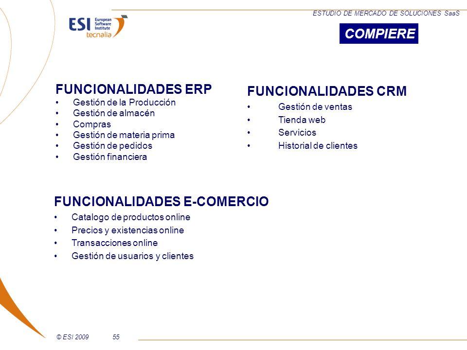FUNCIONALIDADES E-COMERCIO