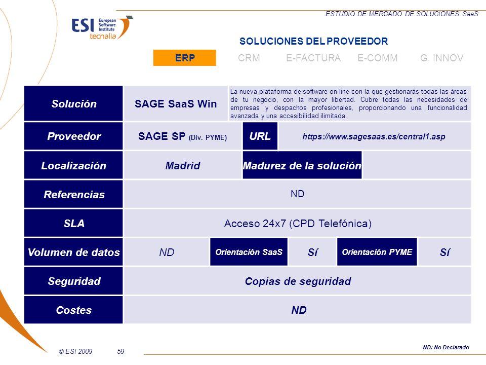 Acceso 24x7 (CPD Telefónica) Volumen de datos Sí Seguridad