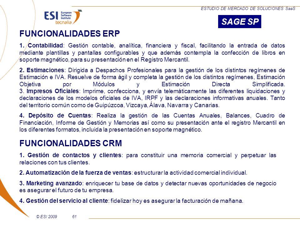 SAGE SP FUNCIONALIDADES ERP FUNCIONALIDADES CRM