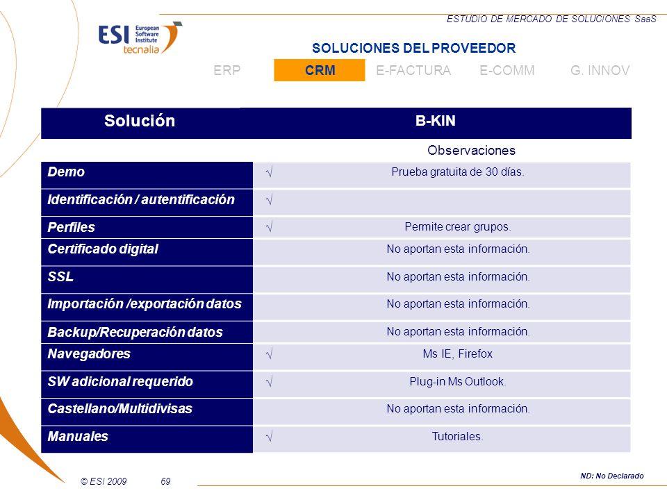 Solución B-KIN SOLUCIONES DEL PROVEEDOR ERP CRM E-FACTURA E-COMM