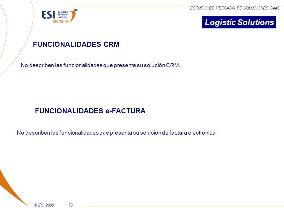 Logistic Solutions FUNCIONALIDADES CRM FUNCIONALIDADES e-FACTURA