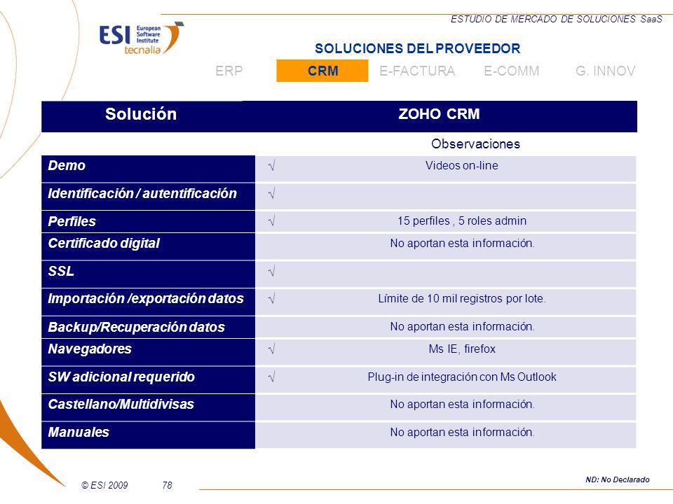 Solución ZOHO CRM SOLUCIONES DEL PROVEEDOR ERP CRM E-FACTURA E-COMM