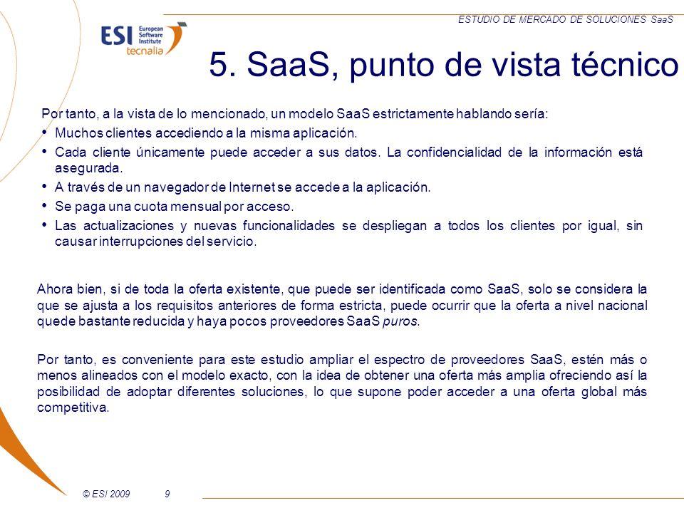 5. SaaS, punto de vista técnico