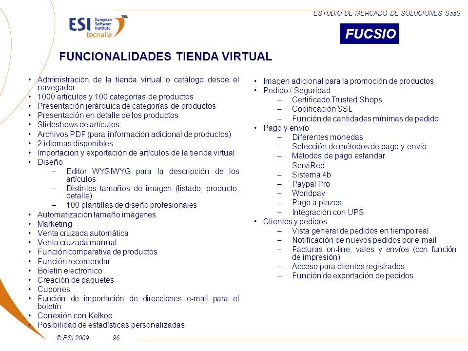FUCSIO FUNCIONALIDADES TIENDA VIRTUAL