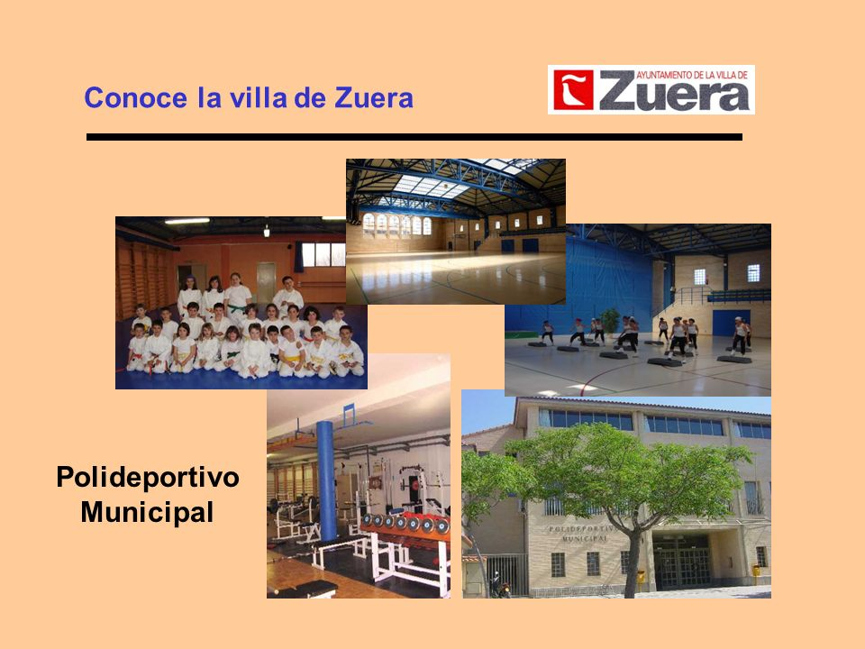 Conoce la villa de Zuera Polideportivo Municipal