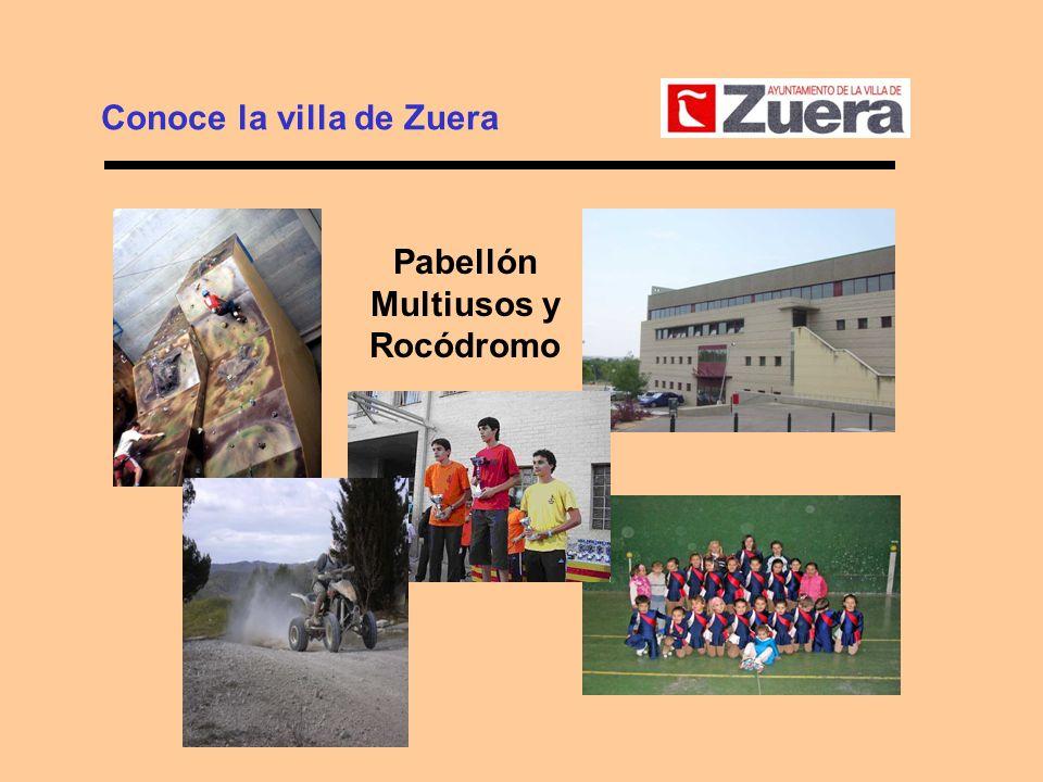 Conoce la villa de Zuera Pabellón Multiusos y Rocódromo