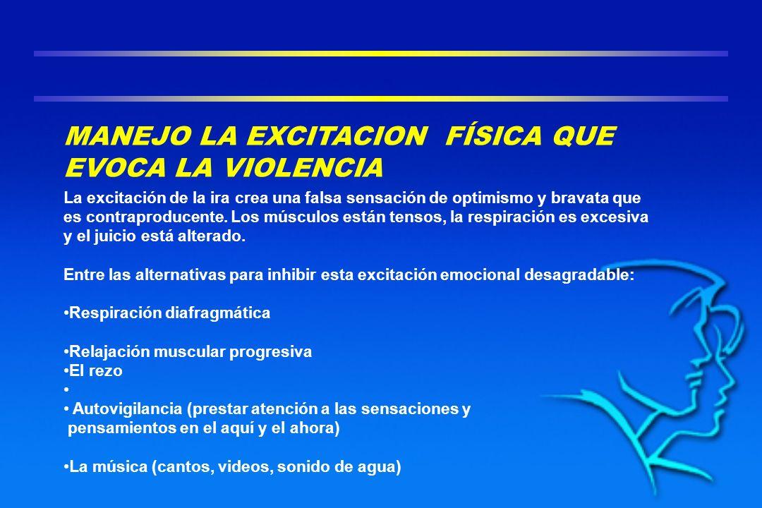 MANEJO LA EXCITACION FÍSICA QUE EVOCA LA VIOLENCIA