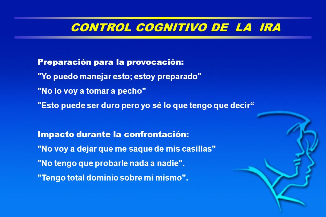 CONTROL COGNITIVO DE LA IRA