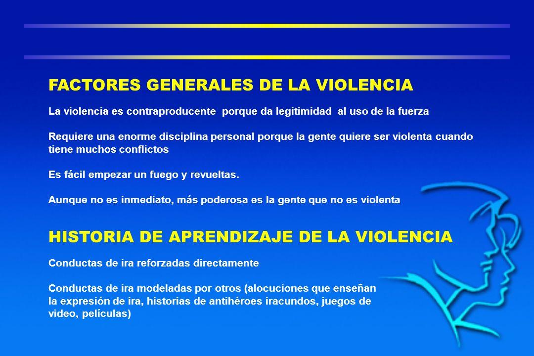FACTORES GENERALES DE LA VIOLENCIA